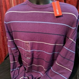 Izod Purple Sweater NWT